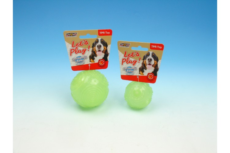 TPR Moonglow Multi-Textures Squeaky Ball