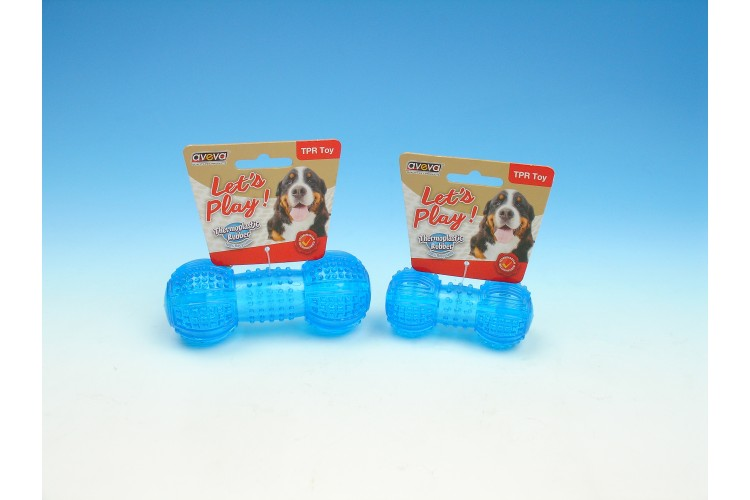TPR Multi-Textures Squeaky Dumbbell