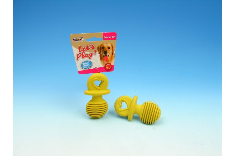 RT/3023TG Rubber Puppy Teething Pacifier - 3.75""