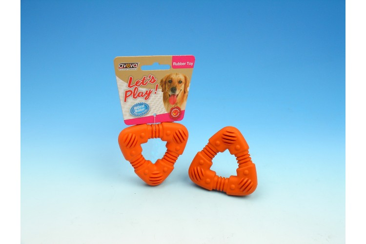 RT/3024TG Rubber Puppy Teething Tri-Ring - 3.0""